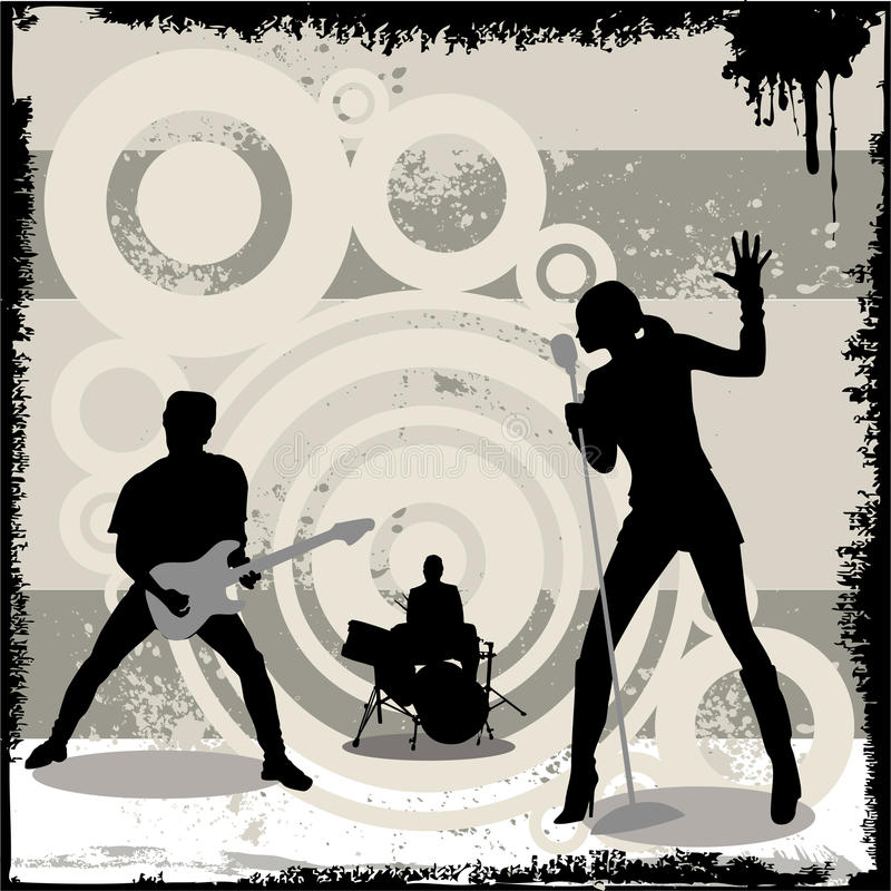 grunge koncertowy wektor ilustracji