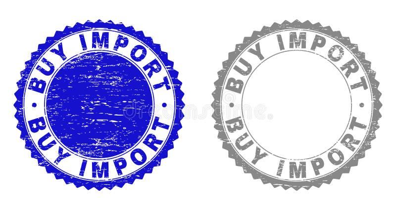Grunge KOOPT de INVOER Gekraste Watermerken royalty-vrije illustratie