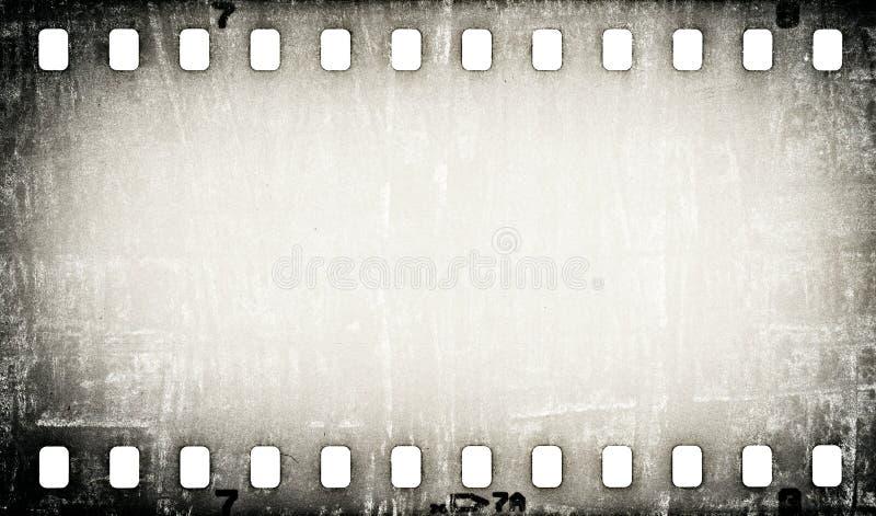 Grunge kraste de achtergrond van de filmstrook stock illustratie