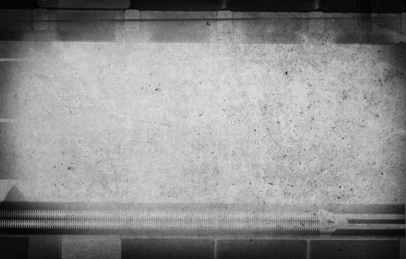 Grunge kraste de vuile achtergrond van de filmstrook met ruimte voor tekst stock afbeelding