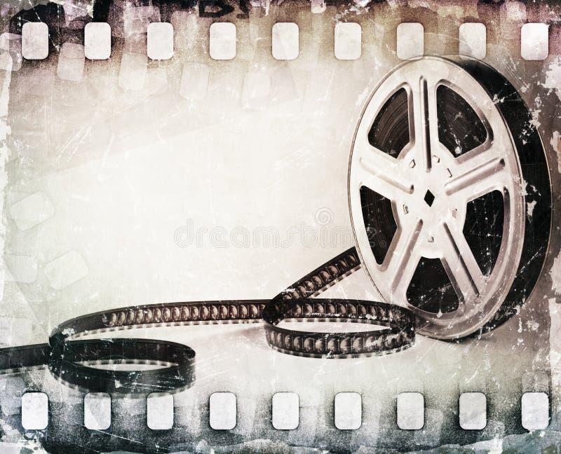 Grunge kraste filmstrook, spoelachtergrond royalty-vrije illustratie