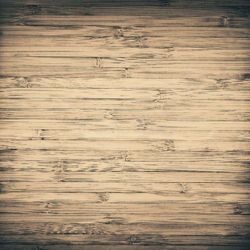 Grunge kraste gestreepte bruine bamboetextuur, scherpe raad stock foto