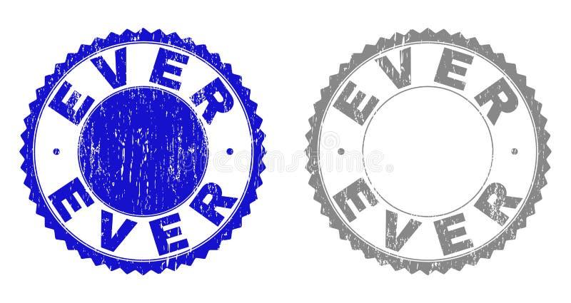 Grunge kraste OOIT Zegelverbindingen royalty-vrije illustratie