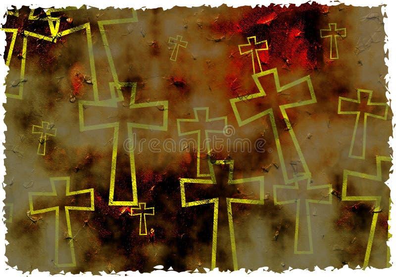 Grunge Kreuz stock abbildung