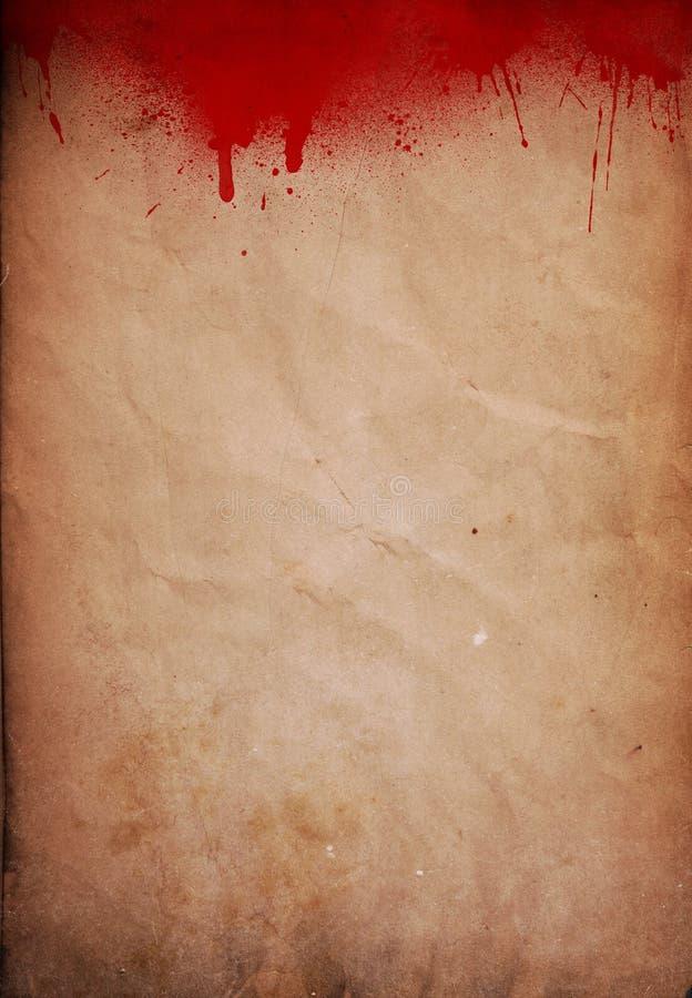 Grunge krew splattered papierowy tło royalty ilustracja