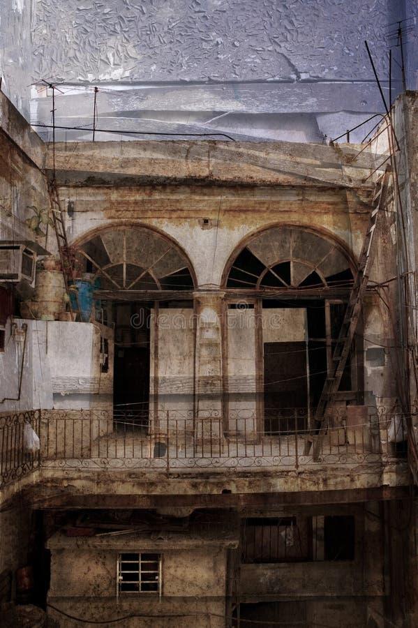 Grunge kubanisches Gebäude lizenzfreies stockbild