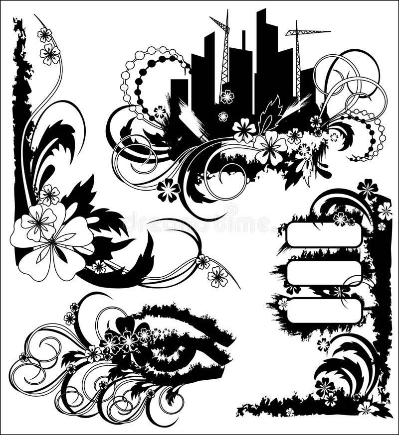 grunge kwiecista ilustracja royalty ilustracja