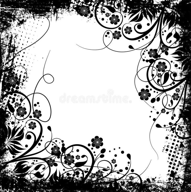 grunge kwiecisty ilustracja wektor