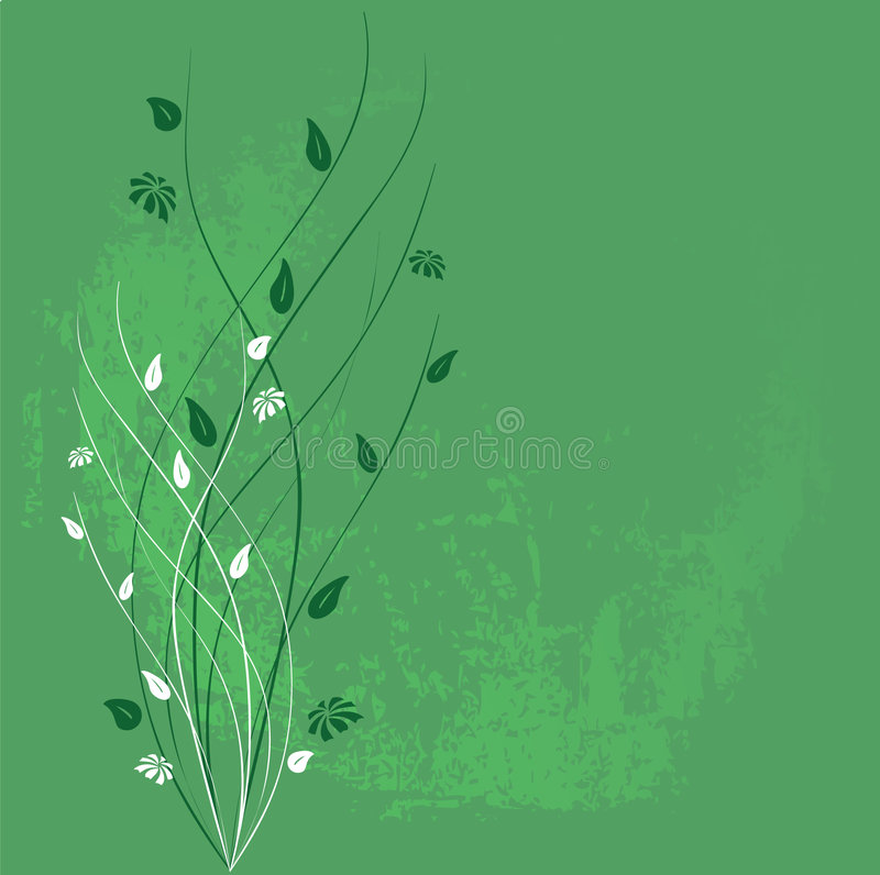 grunge kwiecisty ornament ilustracji