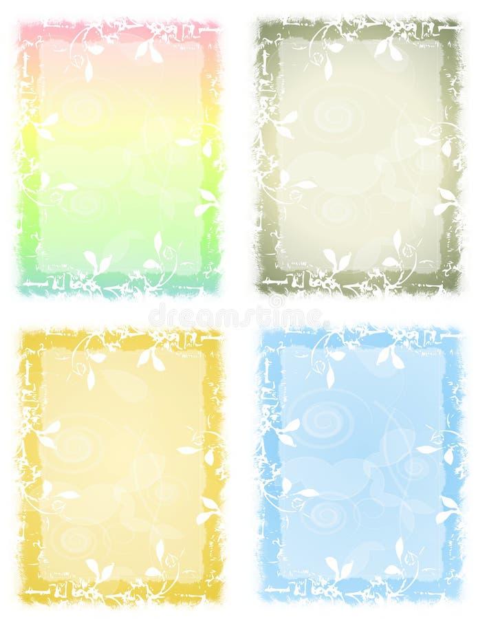 grunge kwiecisty pastel tła ilustracji