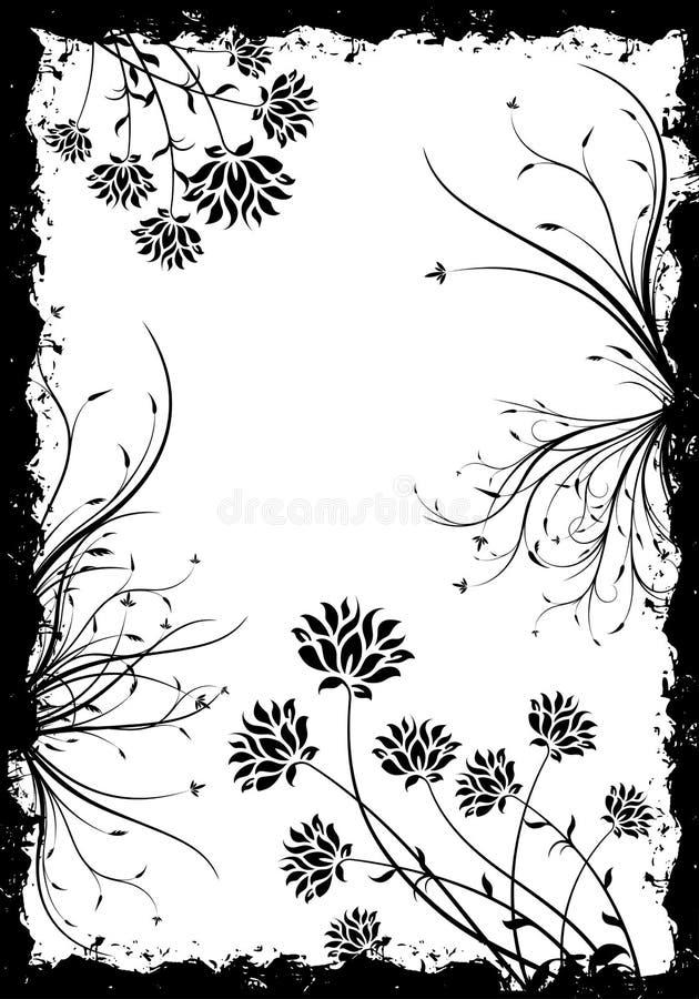 grunge kwiecisty tła royalty ilustracja