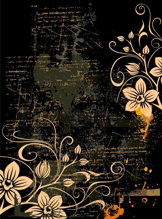 grunge kwiecisty tła ilustracji