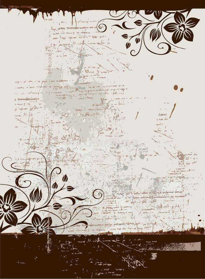 grunge kwiecisty tła ilustracja wektor