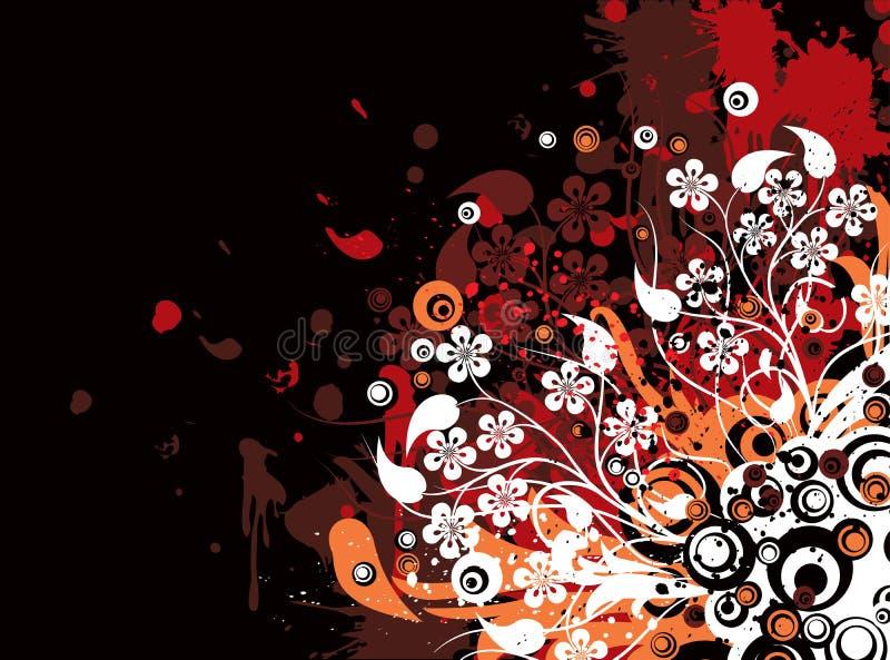 grunge kwiecisty tła wektora royalty ilustracja