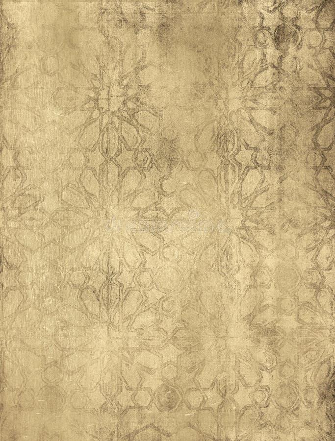 Grunge kwiecisty tło z przestrzenią dla teksta lub im royalty ilustracja