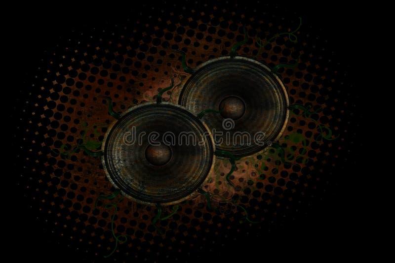 Grunge Lautsprecher stock abbildung