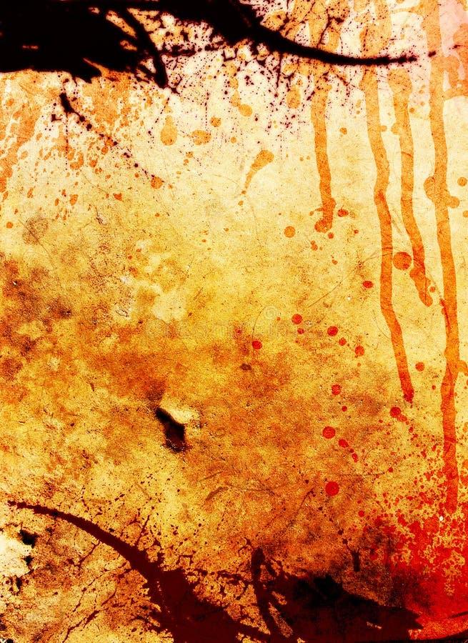 GRUNGE LAYOUT WITH BLOOD DRIP