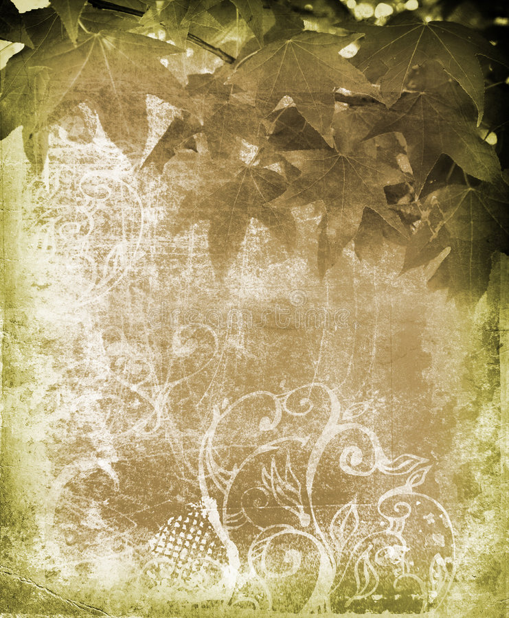 Grunge leaves background royalty free illustration