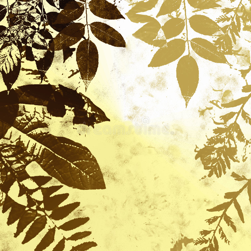 Download Grunge leaves silhouette stock illustration. Image of yellow - 4427687