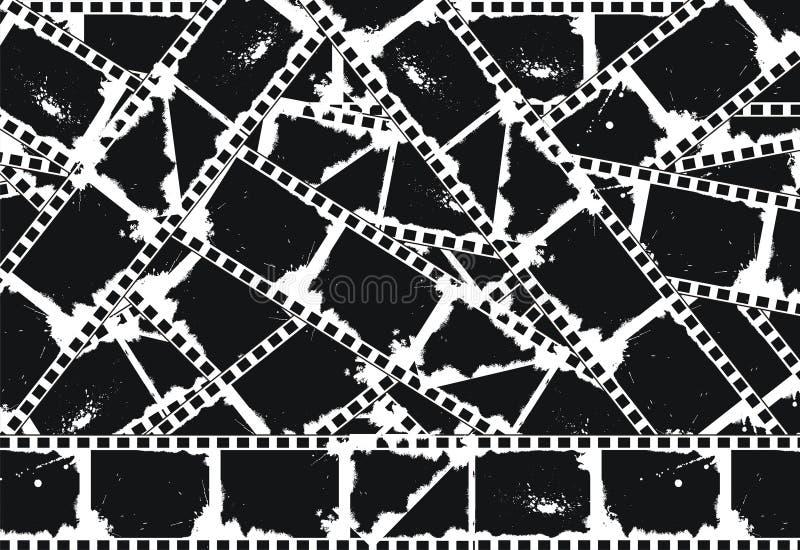 Grunge leerer filmstrips Hintergrund lizenzfreie abbildung