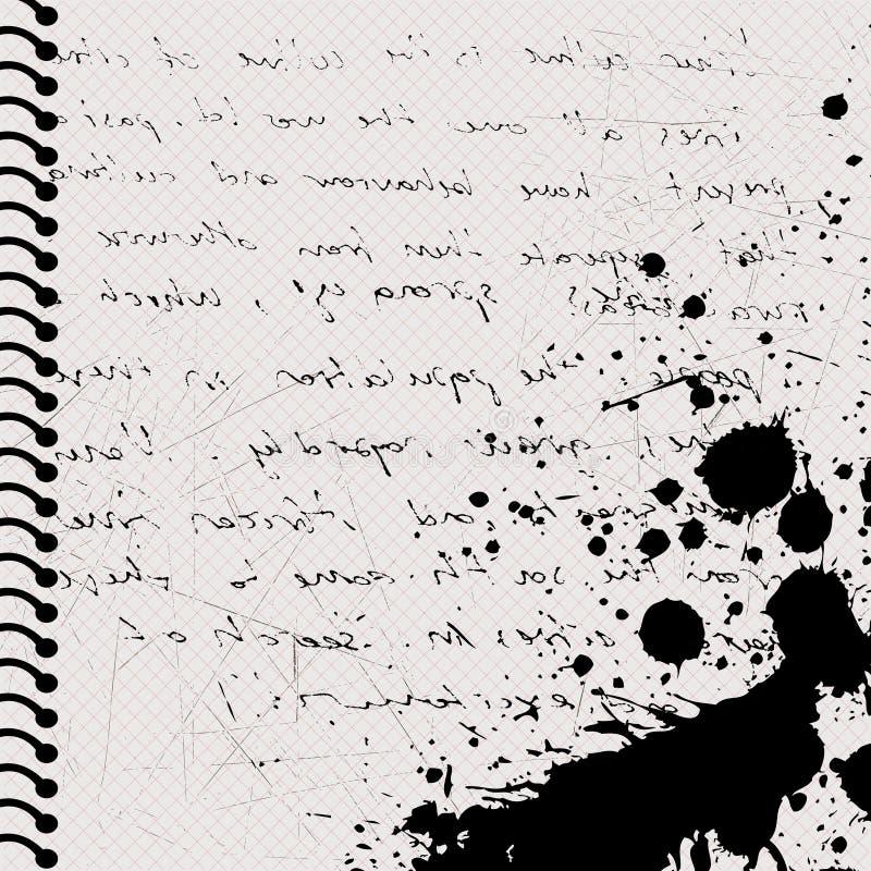 Grunge letter stock illustration