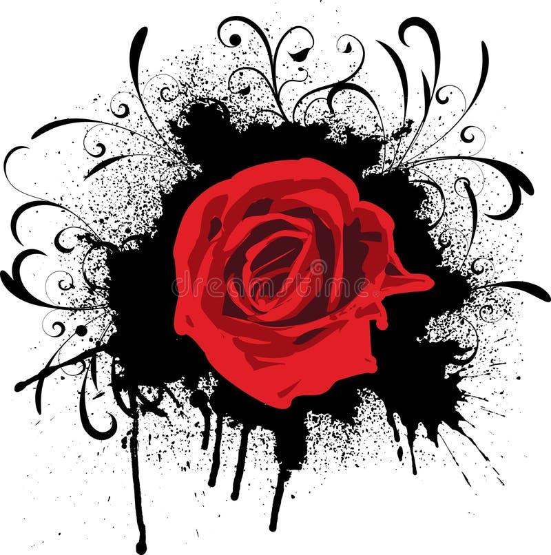 Grunge levantou-se ilustração royalty free
