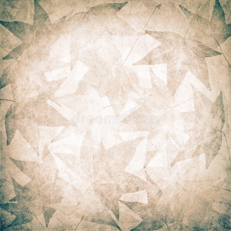 Grunge liścia tło ilustracji