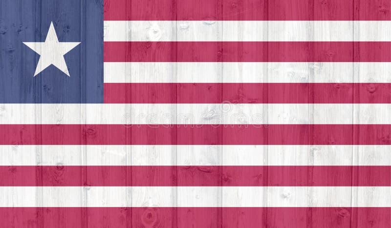 Grunge Liberia flaga ilustracja wektor