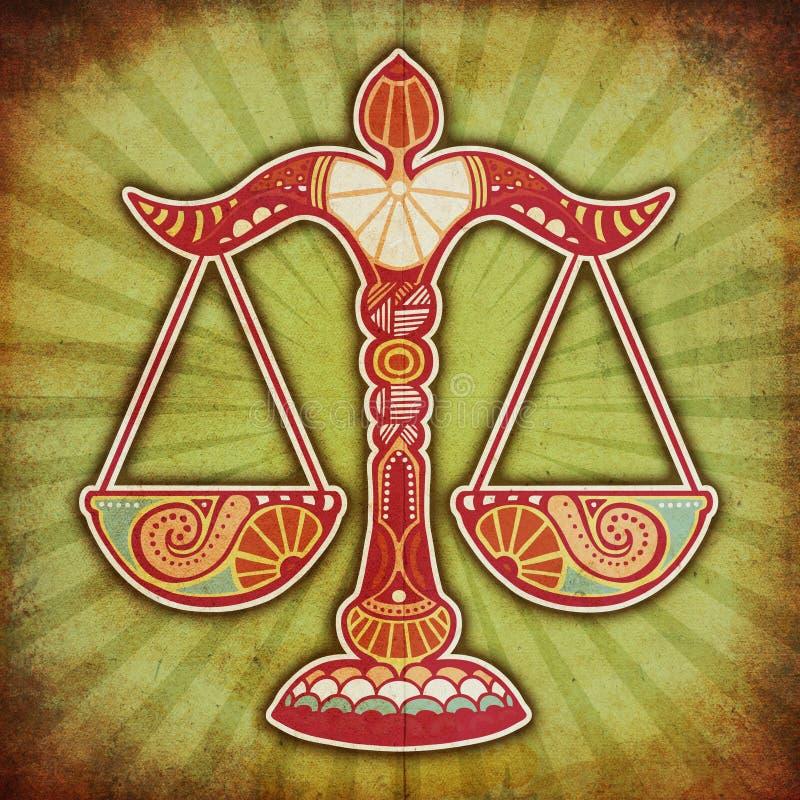 grunge libra zodiak zdjęcie stock