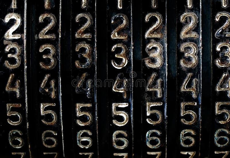 Grunge liczby zdjęcie stock