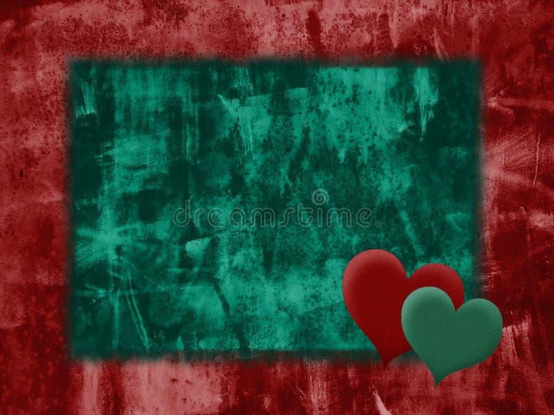 Grunge Liebeshintergrund stock abbildung