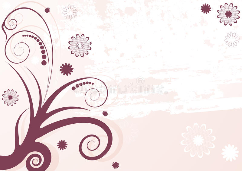 Download Grunge Lilas Abstract Floral  Background Stock Vector - Image: 11546793