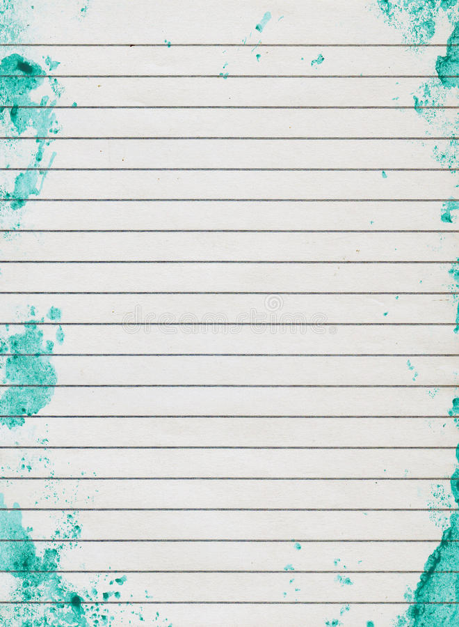 Grunge lined paper stock photos