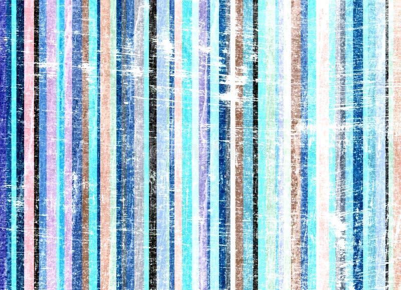 Grunge listra o azul do fundo ilustração do vetor