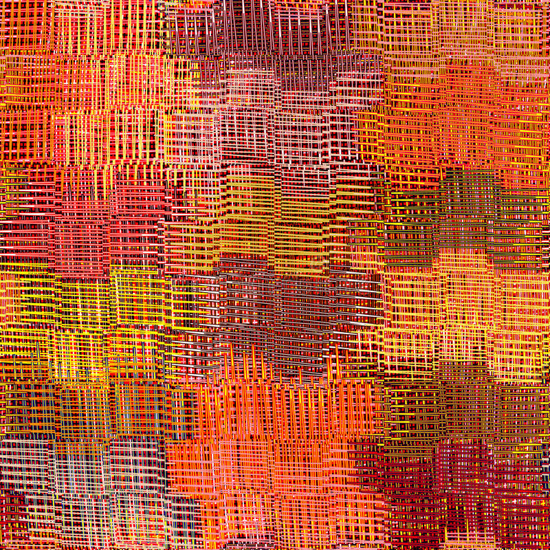Grunge listrado, pano colorido do weave quadriculado, ondulado ilustração royalty free