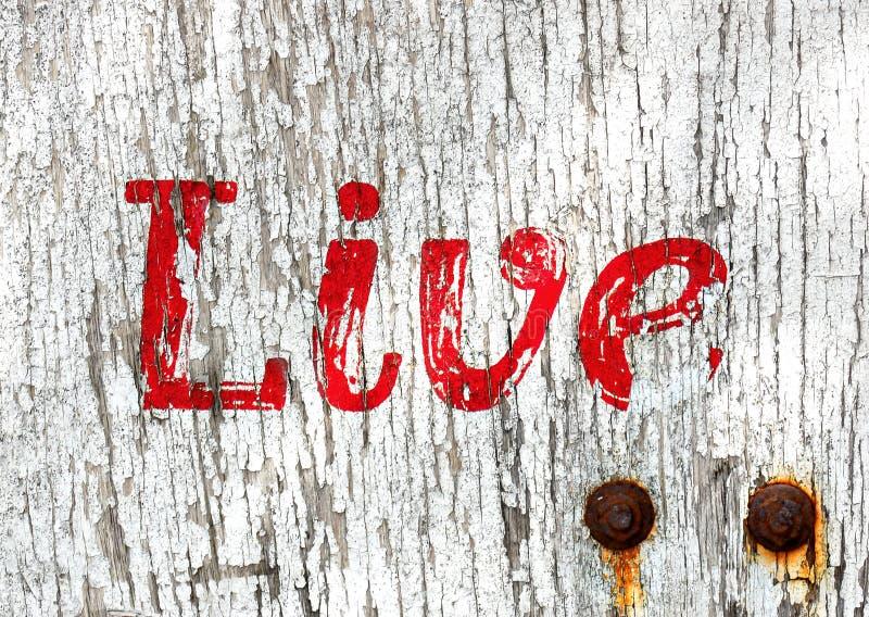 Download Grunge live wooden sign stock image. Image of wood, bolt - 9381959