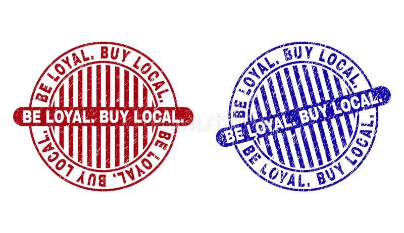 Grunge BY? LOJALNY zakupu miejscowy Porysowani Round Watermarks ilustracji