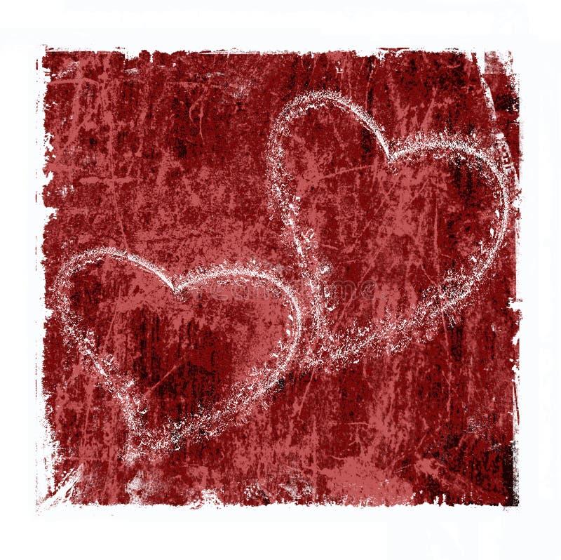 Grunge love stock illustration