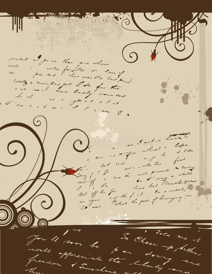 Download Grunge Love Letter stock vector. Image of mail, circles - 7607068