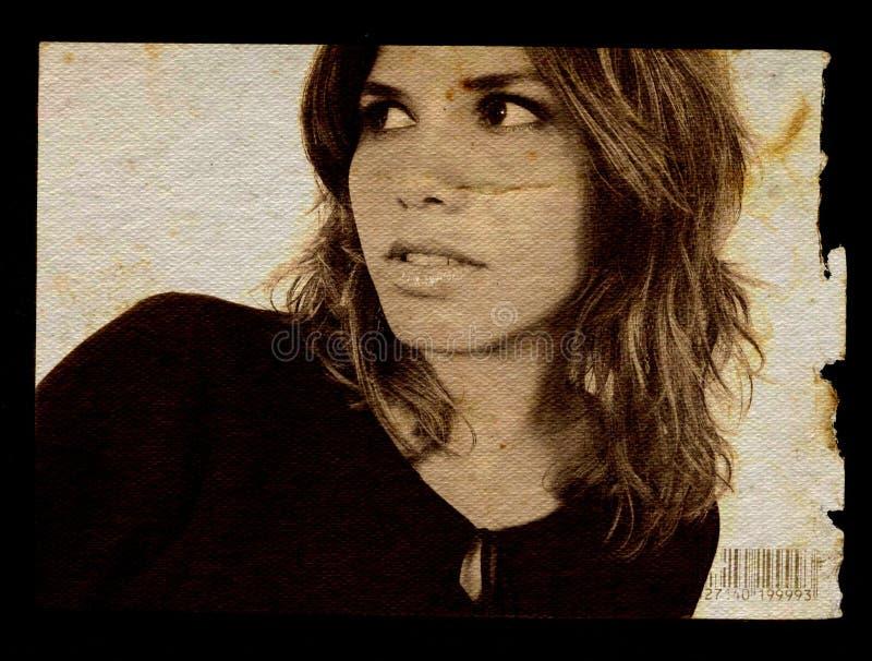 Grunge Mädchen 2 lizenzfreie stockfotos