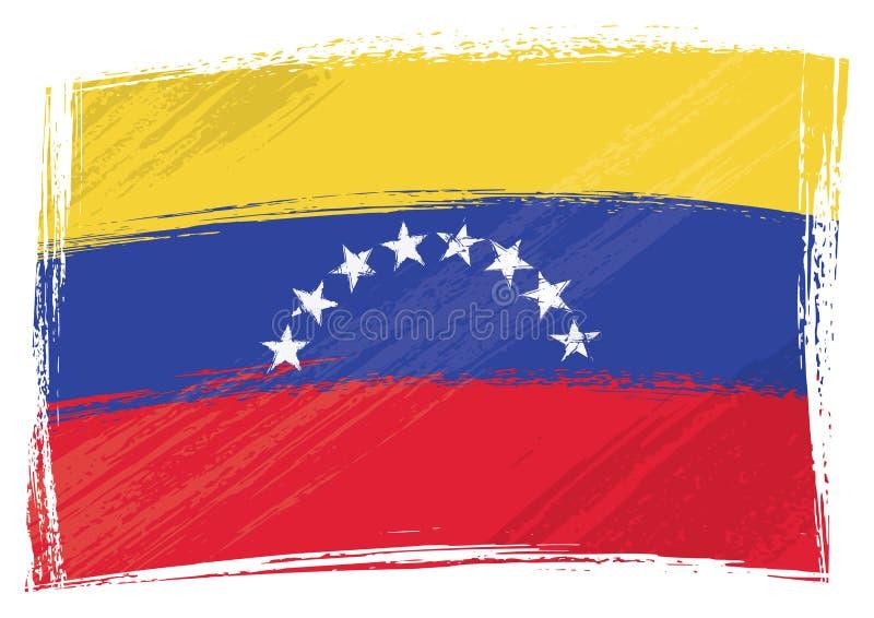 Grunge målade den Venezuela flaggan royaltyfri illustrationer