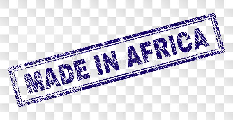 Grunge MADE IN AFRICA Rectangle Stamp royalty free illustration