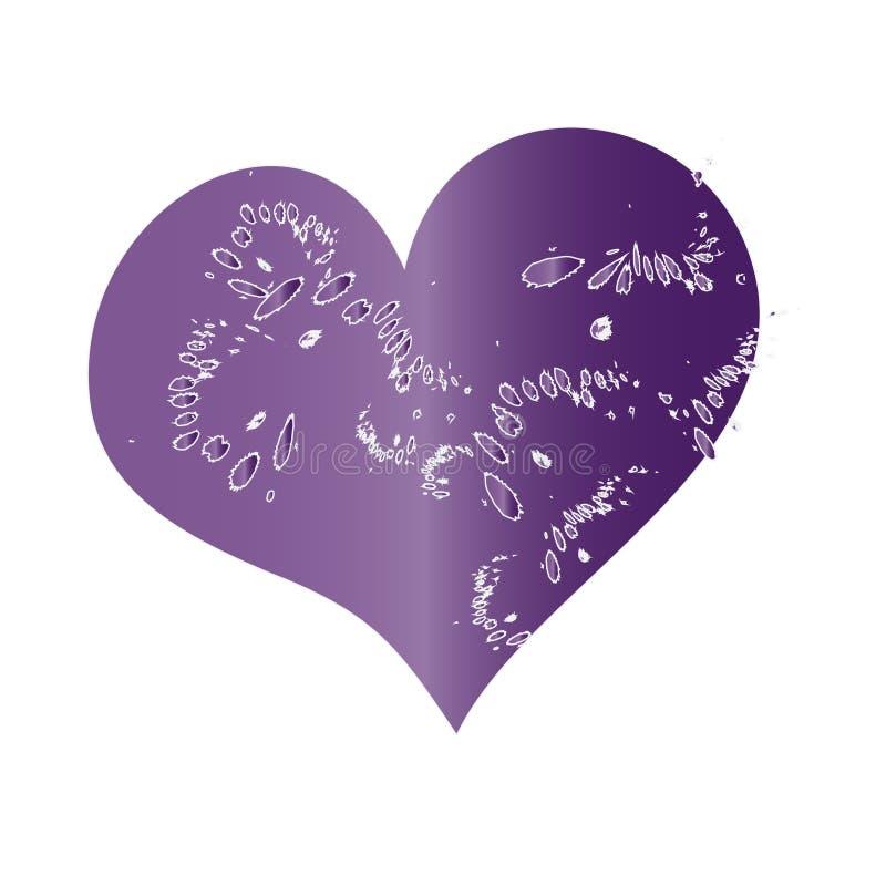 Grunge Magenta Heart stock illustration