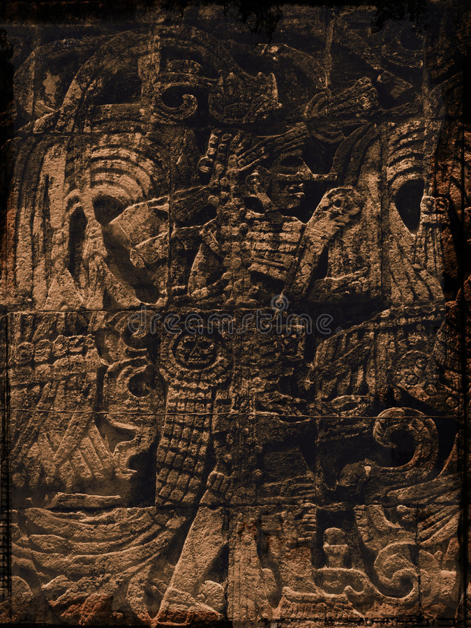 grunge majów royalty ilustracja