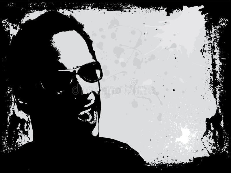 Grunge male vector illustration