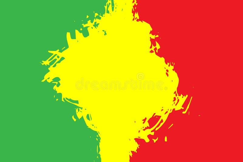 grunge malujący porysowany tekstury tło EPS10 reggae ilustracyjni kolory zielenieją, kolor żółty, czerwień royalty ilustracja