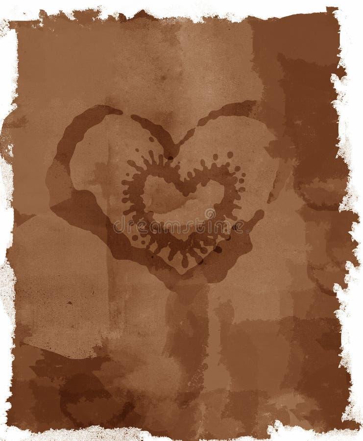 Grunge manchou a letra de amor ilustração royalty free
