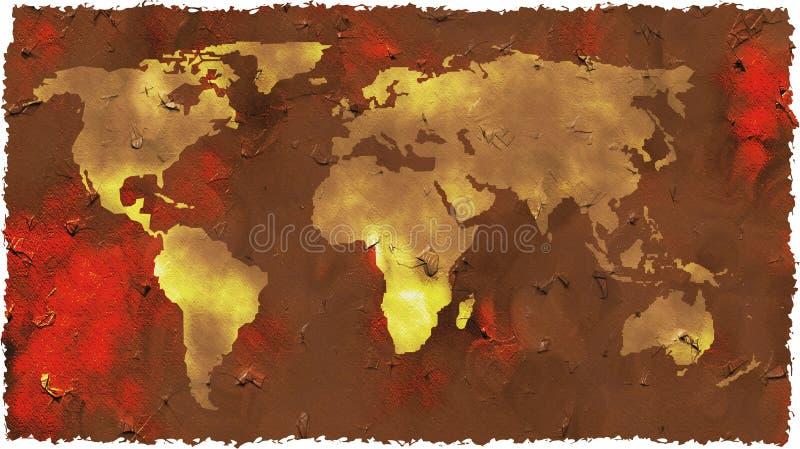 grunge mapa ilustracja wektor
