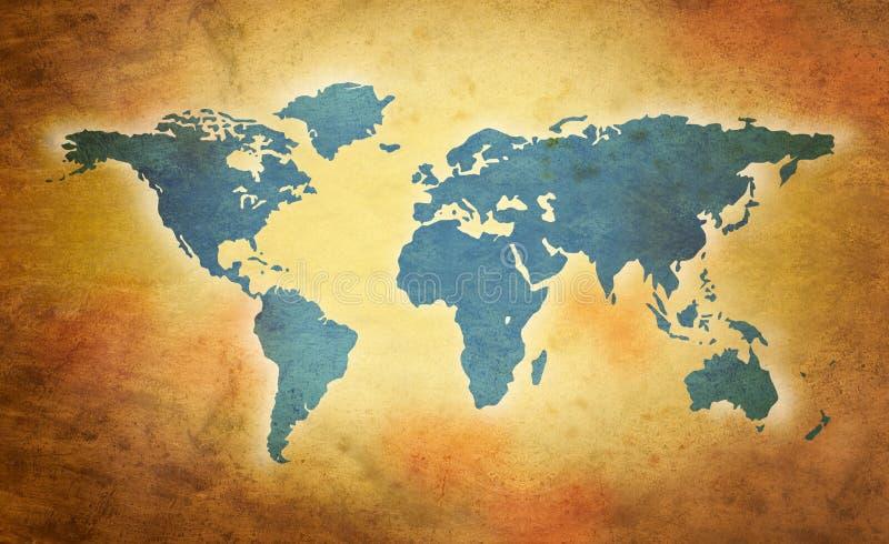 grunge mapy świat ilustracja wektor