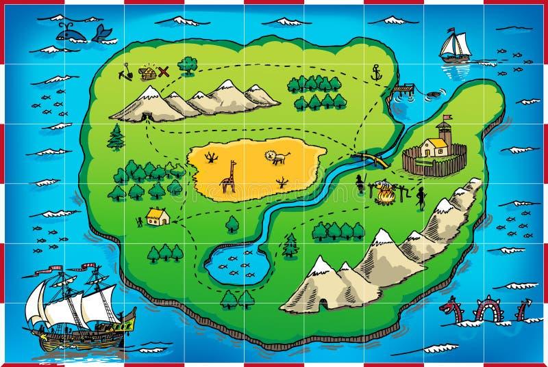 grunge mapy pirat s ilustracja wektor